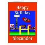 New Kids Football Personalized Birthday Card