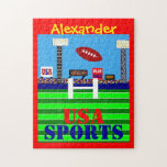 New Kids Football Puzzle Personalized Sports Gift