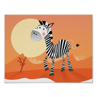 New Kids poster in shop : with Africa cute Zebra
