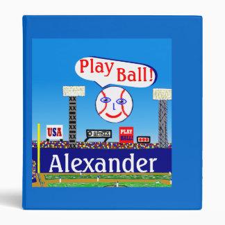 New Kids Sports Baseball Personalized Binder