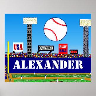 New Kids Sports Baseball Personalized Poster Art