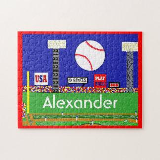 New Kids Sports Baseball Puzzle Personalized Gift