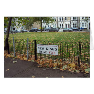 New King s Road Greeting Card