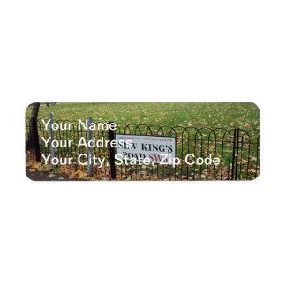 New King s Road Custom Return Address Label