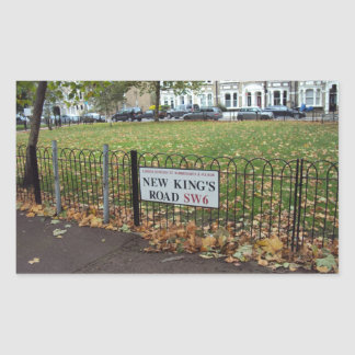 New King s Road Rectangular Stickers