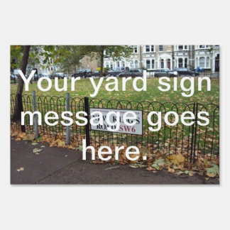 New King s Road Lawn Signs