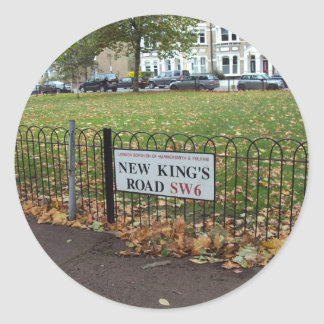 New King's Road Classic Round Sticker
