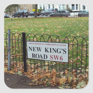 New King's Road Square Sticker
