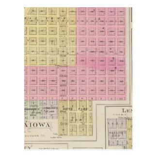 New Kiowa, Sun City, Stanley, and Holliday, Kansas Postcard