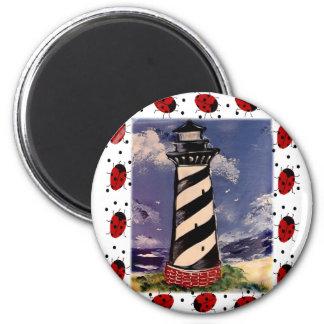 New Ladybug Lighthouse Refrigerator Magnets