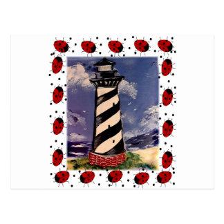 New Ladybug Lighthouse Postcard