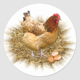 NEW LAID EGGS Envelope Sealers Stickers