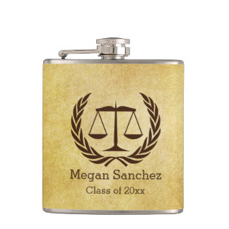 New Law School Graduate Gift Idea Hip Flask