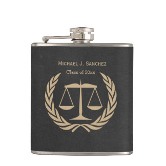 New Law School Graduate Hip Flask