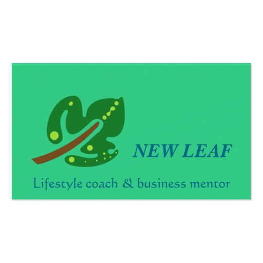 New Leaf Business Card Template