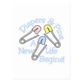 New Life Begins Postcard