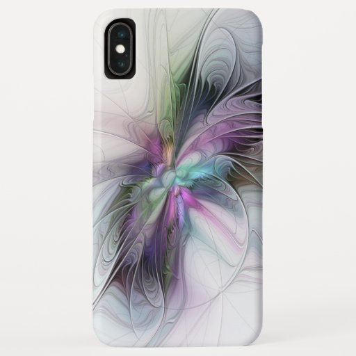 New Life, Colorful Abstract Fractal Art Fantasy iPhone XS Max Case