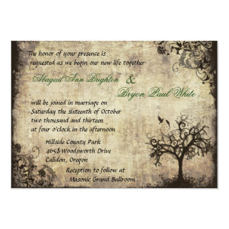 New Life Vintage Wedding Invitation