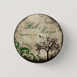 New Life Vintage Wedding Thank You Button