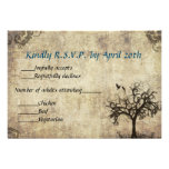 New Life Vintage with Blue Wedding RSVP Card