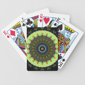 New Linear Light Green Kaleidoscope Playing Cards