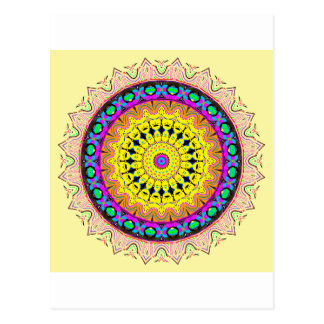 New Linear Soft Sand Yellow Blue Postcard
