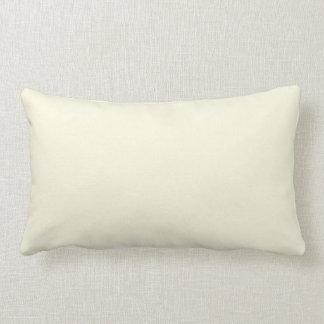 New Linen White Cream Solid Lumbar Pillow Gift