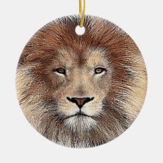 New Lion Print Ceramic Ornament