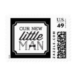 New Little Man Bow Tie Birth Announcement Postage