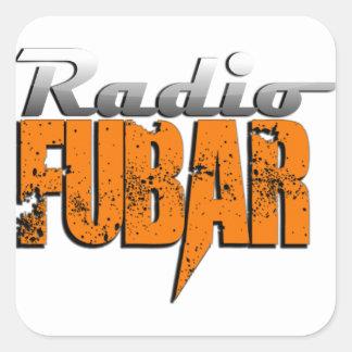 New Logo RadioFUBAR Square Sticker