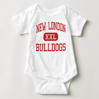 New London - Bulldogs - Middle - New London Baby Bodysuit