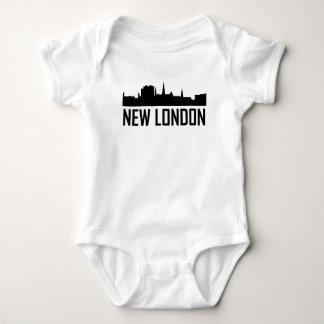 New London Connecticut City Skyline Baby Bodysuit