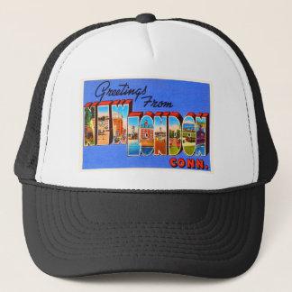 New London Connecticut CT Vintage Travel Souvenir Trucker Hat