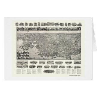 New London, CT Panoramic Map - 1911 Card