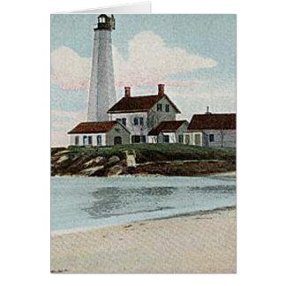 New London Harbor Lighthouse Card