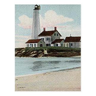 New London Harbor Lighthouse Postcard