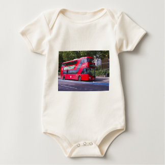 New London Red Bus Baby Bodysuit