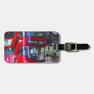 New London Red Bus Bag Tag