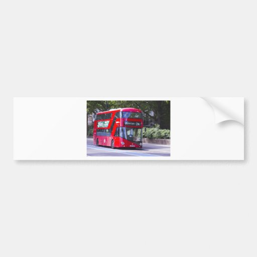 New London Red Bus Bumper Stickers