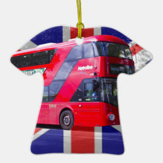 New London Red Bus Ceramic T-Shirt Decoration