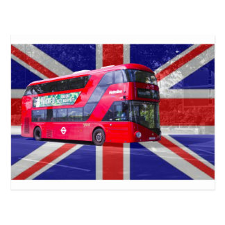 New London Red Bus Postcard