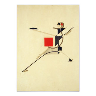 New Man by El Lissitzky Abstract 4.5x6.25 Paper Invitation Card