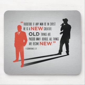 New Man Mousepad - 2 Corinthians 5:17 Bible Verse