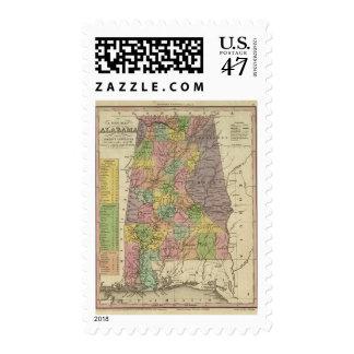 New Map Of Alabama Postage