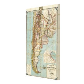New map of Argentina Canvas Print