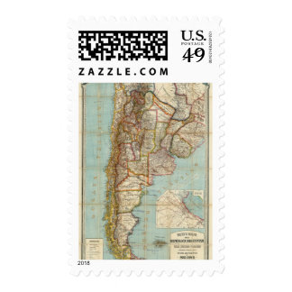 New map of Argentina Stamp