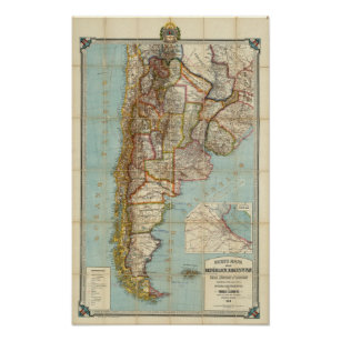 New map of Argentina Poster