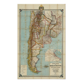 New map of Argentina Print