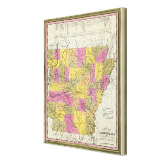 New Map Of Arkansas 2 Canvas Print