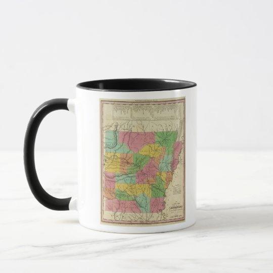 New Map Of Arkansas 2 Mug